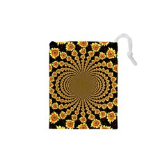 Psychedelic Sunflower Drawstring Pouches (XS)