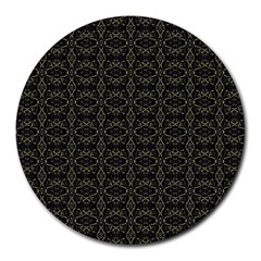 Dark Interlace Tribal  Round Mousepads