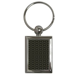 Dark Interlace Tribal  Key Chains (Rectangle)