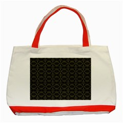 Dark Interlace Tribal  Classic Tote Bag (Red)