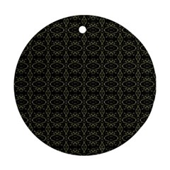Dark Interlace Tribal  Round Ornament (Two Sides)