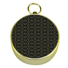 Dark Interlace Tribal  Gold Compasses