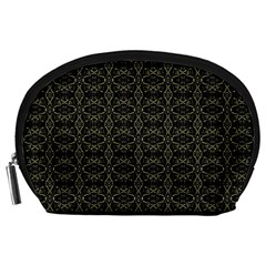 Dark Interlace Tribal  Accessory Pouches (Large)