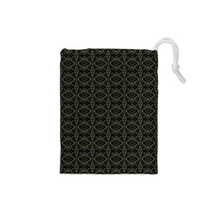 Dark Interlace Tribal  Drawstring Pouches (Small)