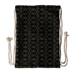 Dark Interlace Tribal  Drawstring Bag (Large)