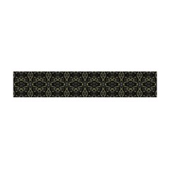 Dark Interlace Tribal  Flano Scarf (Mini)
