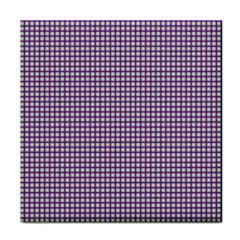 Mardi Gras Purple Plaid Tile Coasters