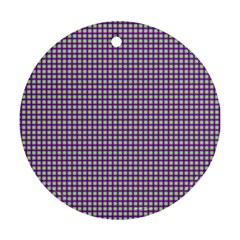 Mardi Gras Purple Plaid Ornament (Round)