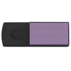Mardi Gras Purple Plaid USB Flash Drive Rectangular (4 GB)