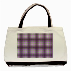 Mardi Gras Purple Plaid Basic Tote Bag
