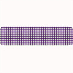 Mardi Gras Purple Plaid Large Bar Mats