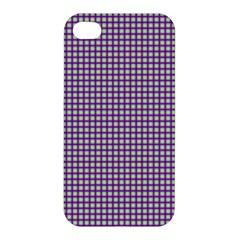 Mardi Gras Purple Plaid Apple iPhone 4/4S Hardshell Case