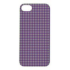 Mardi Gras Purple Plaid Apple iPhone 5S/ SE Hardshell Case