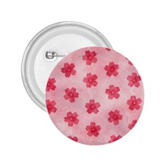 Watercolor Flower Patterns 2.25  Buttons