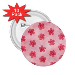 Watercolor Flower Patterns 2.25  Buttons (10 pack)