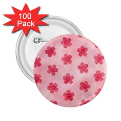 Watercolor Flower Patterns 2.25  Buttons (100 pack)