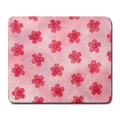 Watercolor Flower Patterns Large Mousepads