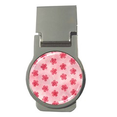 Watercolor Flower Patterns Money Clips (Round)