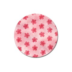 Watercolor Flower Patterns Magnet 3  (Round)