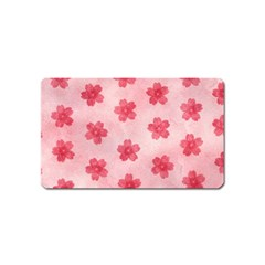 Watercolor Flower Patterns Magnet (Name Card)