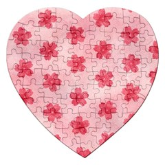 Watercolor Flower Patterns Jigsaw Puzzle (Heart)