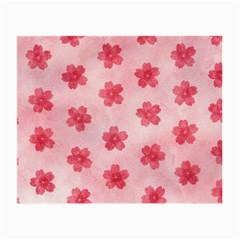 Watercolor Flower Patterns Small Glasses Cloth