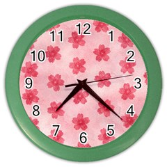 Watercolor Flower Patterns Color Wall Clocks