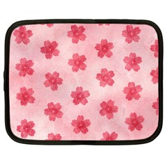 Watercolor Flower Patterns Netbook Case (Large)