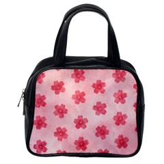 Watercolor Flower Patterns Classic Handbags (One Side)