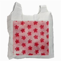 Watercolor Flower Patterns Recycle Bag (One Side)