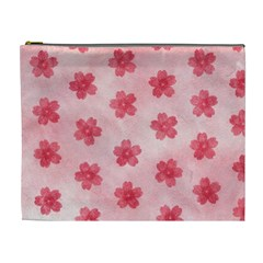 Watercolor Flower Patterns Cosmetic Bag (XL)