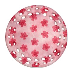 Watercolor Flower Patterns Ornament (Round Filigree)