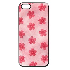 Watercolor Flower Patterns Apple iPhone 5 Seamless Case (Black)