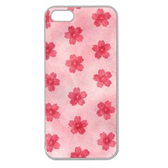 Watercolor Flower Patterns Apple Seamless iPhone 5 Case (Clear)