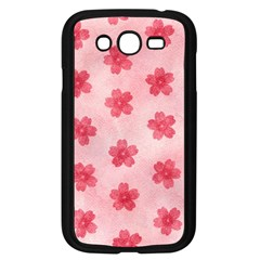 Watercolor Flower Patterns Samsung Galaxy Grand DUOS I9082 Case (Black)