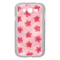 Watercolor Flower Patterns Samsung Galaxy Grand DUOS I9082 Case (White)
