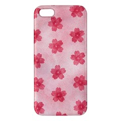 Watercolor Flower Patterns iPhone 5S/ SE Premium Hardshell Case