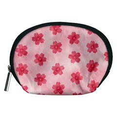 Watercolor Flower Patterns Accessory Pouches (Medium)