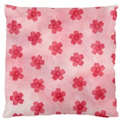 Watercolor Flower Patterns Large Flano Cushion Case (One Side)