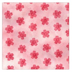 Watercolor Flower Patterns Large Satin Scarf (Square)