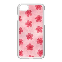 Watercolor Flower Patterns Apple Iphone 7 Seamless Case (white)