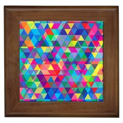 Colorful Abstract Triangle Shapes Background Framed Tiles
