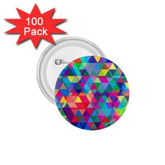 Colorful Abstract Triangle Shapes Background 1.75  Buttons (100 pack)