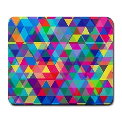 Colorful Abstract Triangle Shapes Background Large Mousepads