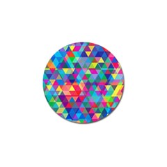 Colorful Abstract Triangle Shapes Background Golf Ball Marker (4 pack)