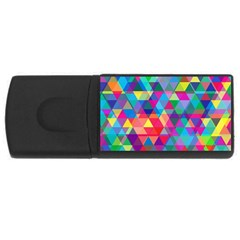 Colorful Abstract Triangle Shapes Background USB Flash Drive Rectangular (2 GB)