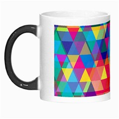 Colorful Abstract Triangle Shapes Background Morph Mugs