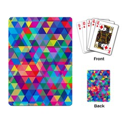Colorful Abstract Triangle Shapes Background Playing Card