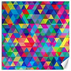 Colorful Abstract Triangle Shapes Background Canvas 16  x 16
