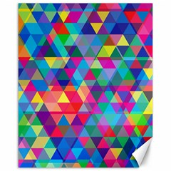 Colorful Abstract Triangle Shapes Background Canvas 16  x 20
